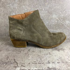 Lucky Brand Gray Suede Brolley Bootie Size 6